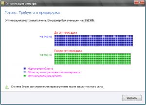 Registry Life. Результаты оптимизации реестра.