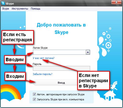 Как сделать регистрацию скайп
