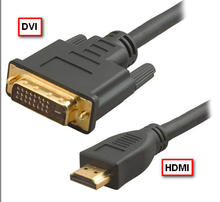 Кабель DVI-HDMI.
