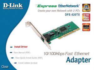 Сетевая карта DLink DFE-520TX. Установка драйвера.