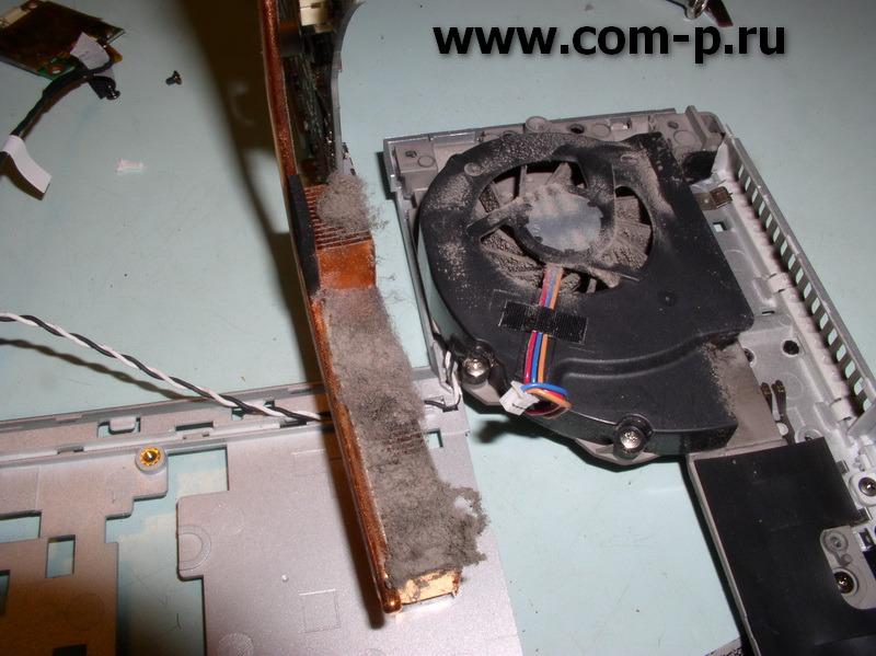Sony Vaio VGN-FZ160E. Загрязнение системы охлаждения..