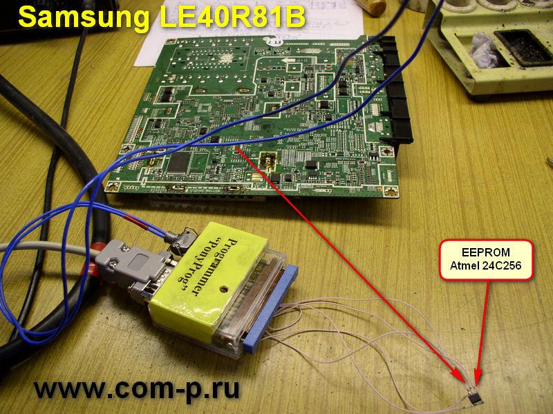 Материнская плата телевизора Samsung LE40R81B.