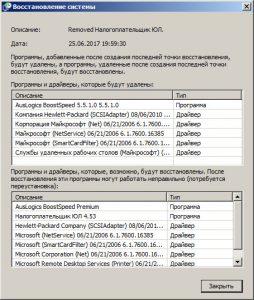 Откат Windows 7