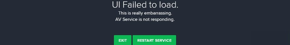UI Failed to load. Avast.