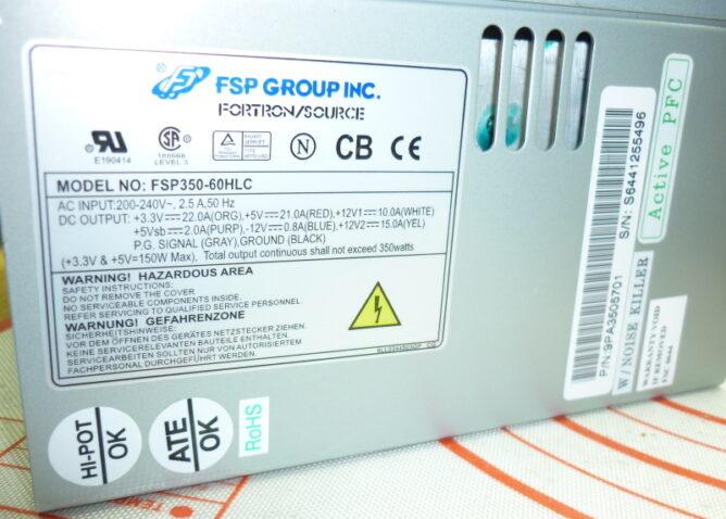 Ремонт блока питания FSP350-60HLC